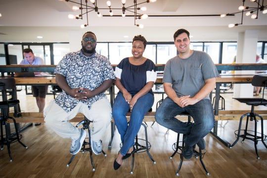 Tariq Hook, Stephanie Eldridge and Robert Herrera are part of a new youth coding camp, Code Differently.