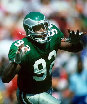 In eight seasons with the Eagles, Reggie White recorded 124 sacks in 121 games.  White died in 2004 and was posthumously elected to the Pro Football Hall of Fame in 2006.