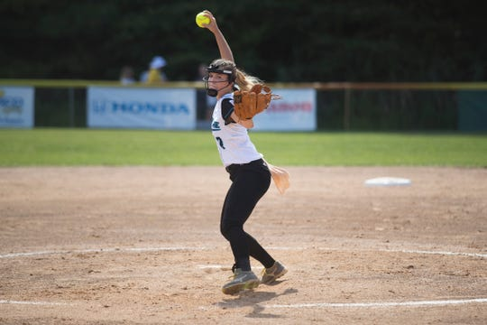 Delaware's Taylor Wroten, 8, pitches during their last game of pool play against Asia-Pacific Thursday at the Lower Sussex Little League Complex in Roxana. Georgetown defeated Asia-Pacific 8-4.