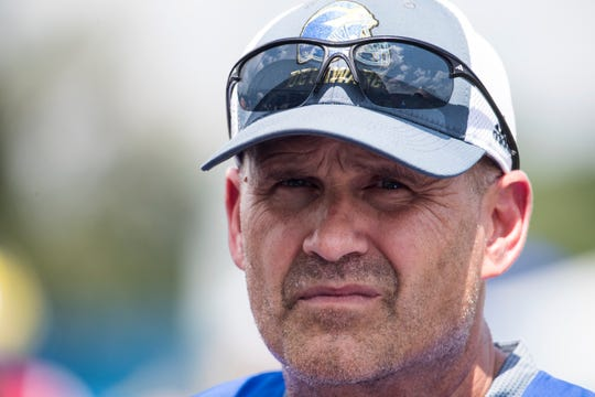 Delaware football coach Danny Rocco.