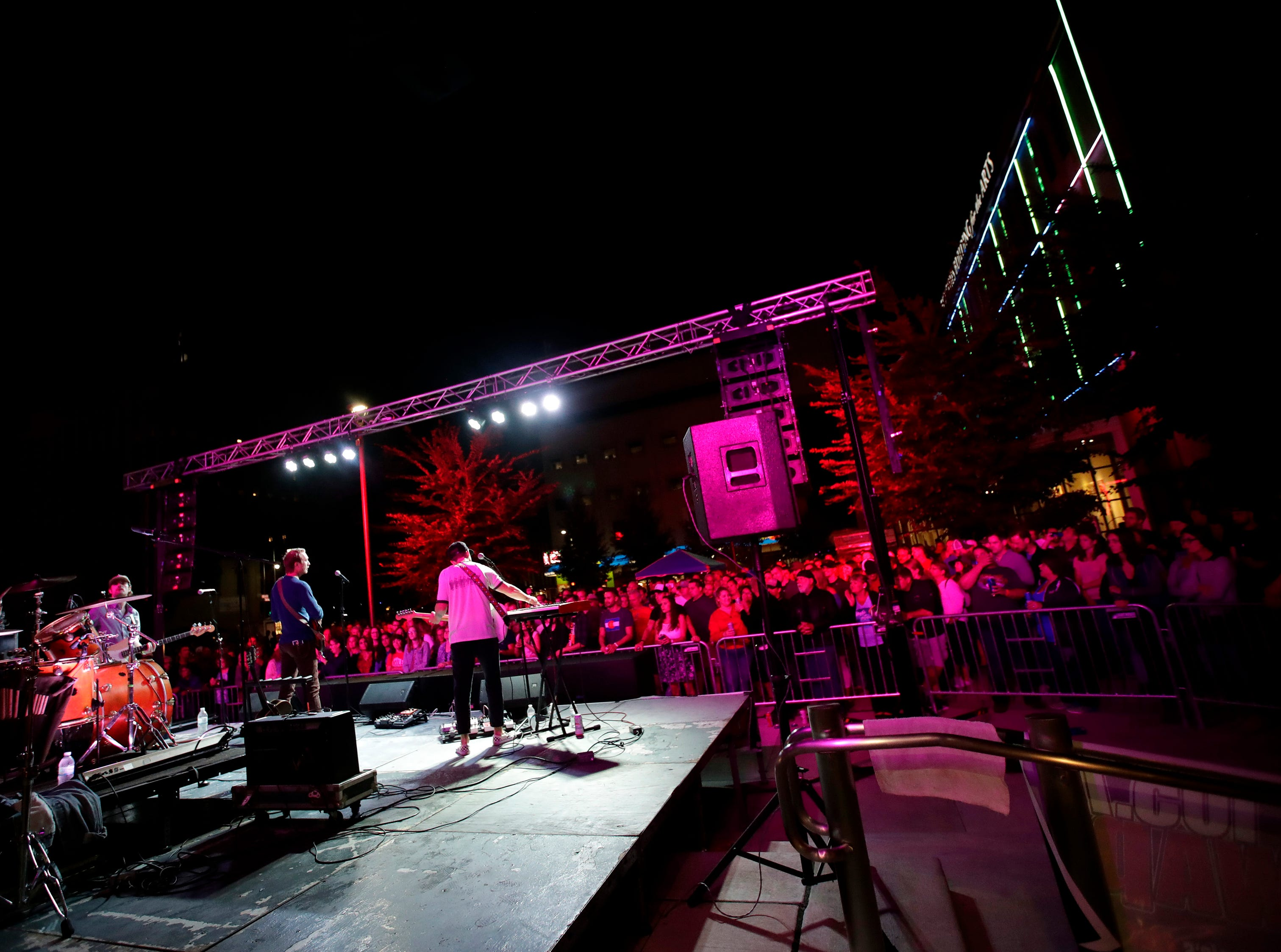 Wilderado performs in Houdini Plaza during the first day of Mile of Music Thursday, Aug. 2, 2018, in Appleton, Wis.Danny Damiani/USA TODAY NETWORK-Wisconsin