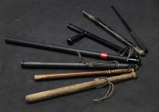 A variety of batons have been used by the Appleton Police Department over the years.