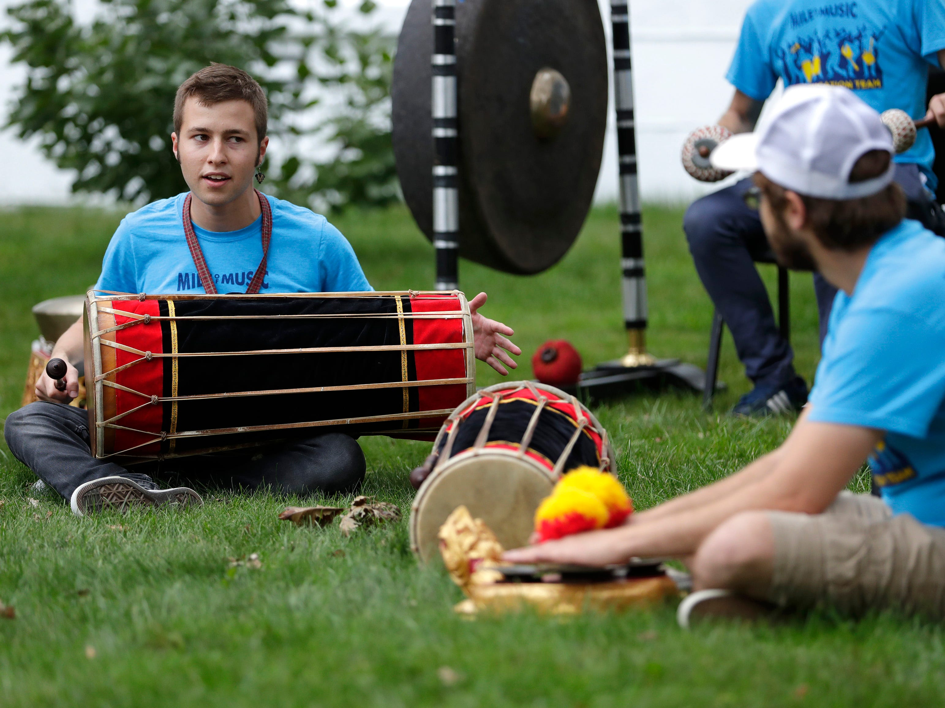The Balinese Gamelan music education workshop during the first day of Mile of Music Thursday, Aug. 2, 2018, in Appleton, Wis.Danny Damiani/USA TODAY NETWORK-Wisconsin