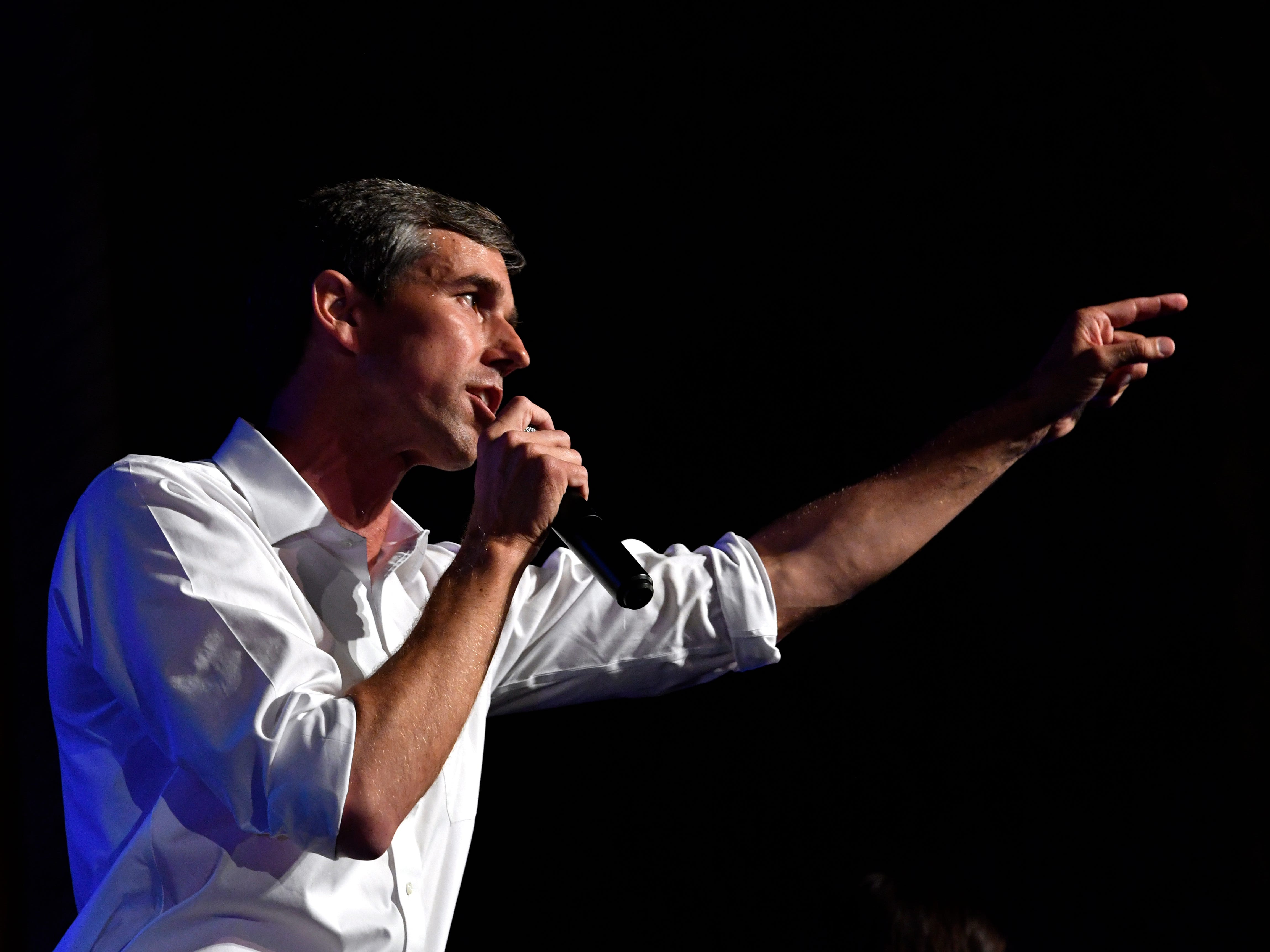 U.S. Senate candidate Beto O'Rourke speaks during a town hall meeting at the Paramount Theatre Thursday August 2, 2018. Five Democratic candidates spoke to a crowd of nearly 800 people.