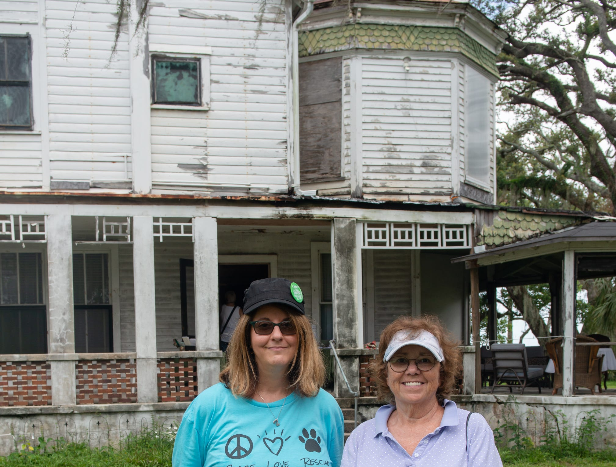 Colleen Hunt and Kathryn Creedy at the Christmas in July event, which raised money to restore the Green Gables Victorian house in Melbourne.