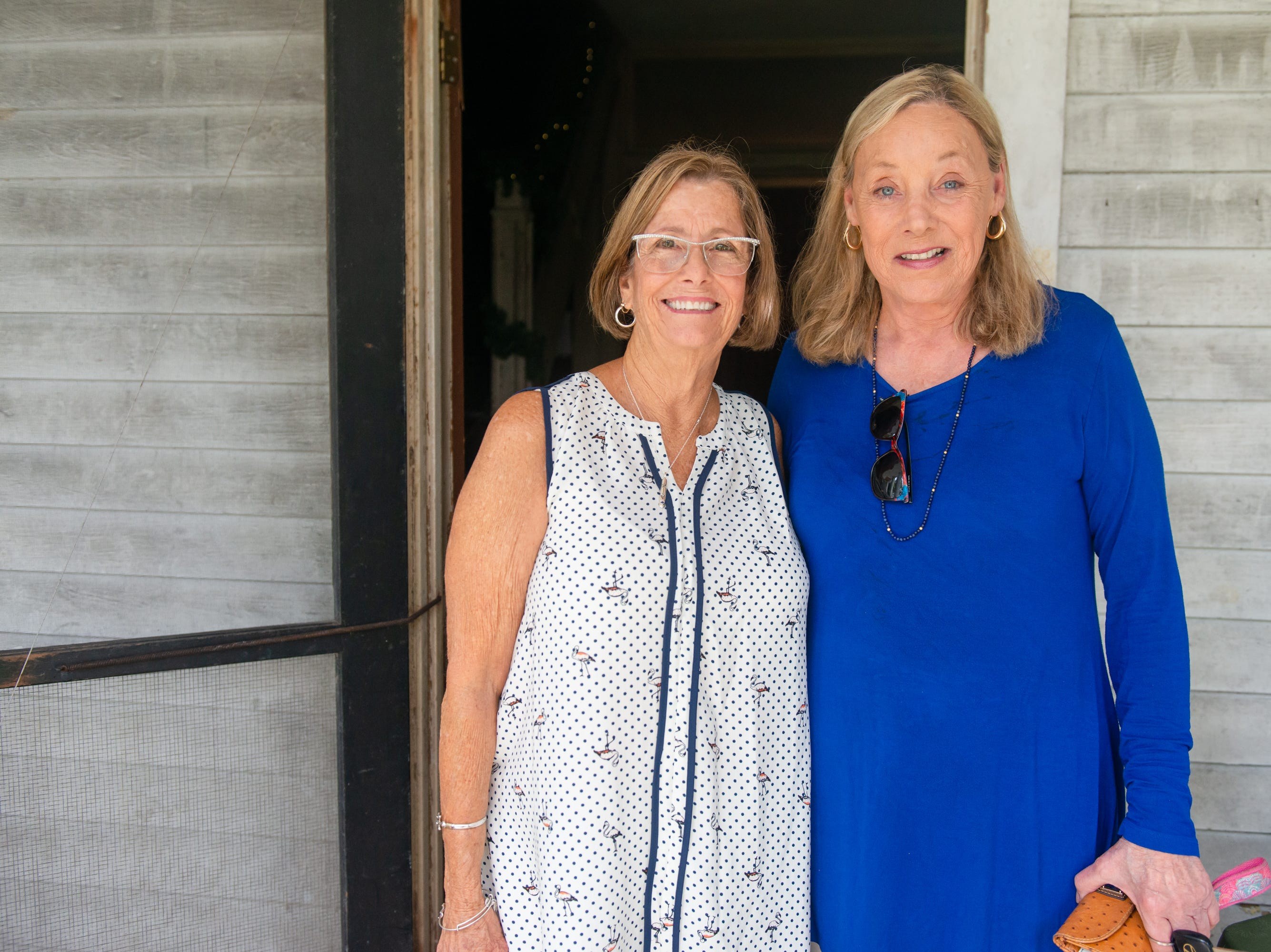 Jean Davis and Sherra Cameruci at the Christmas in July event, which raised money to restore the Green Gables Victorian house in Melbourne.