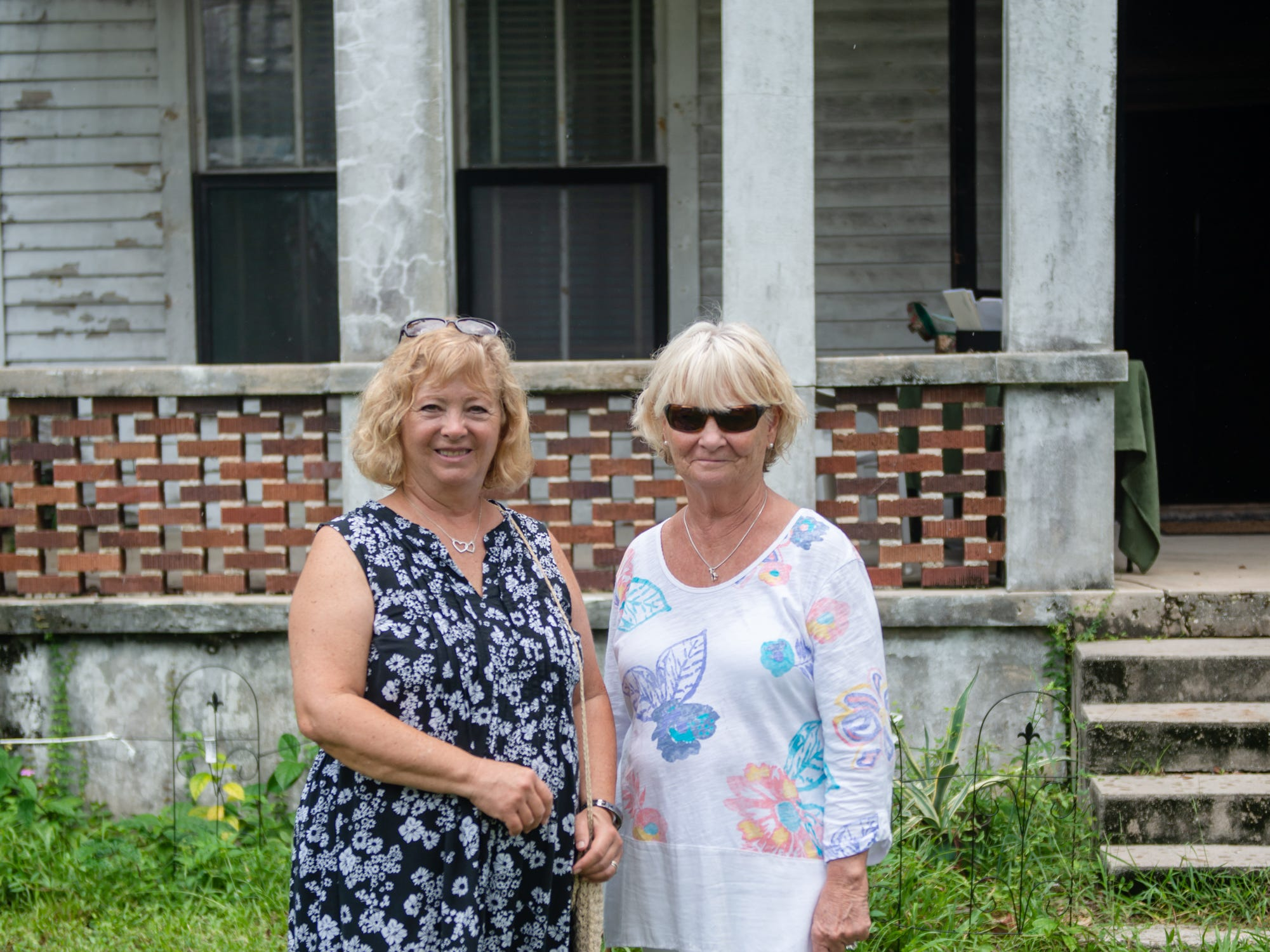 Jana Gallagher and Lorraine Fiore at the Christmas in July event, which raised money to restore the Green Gables Victorian house in Melbourne.