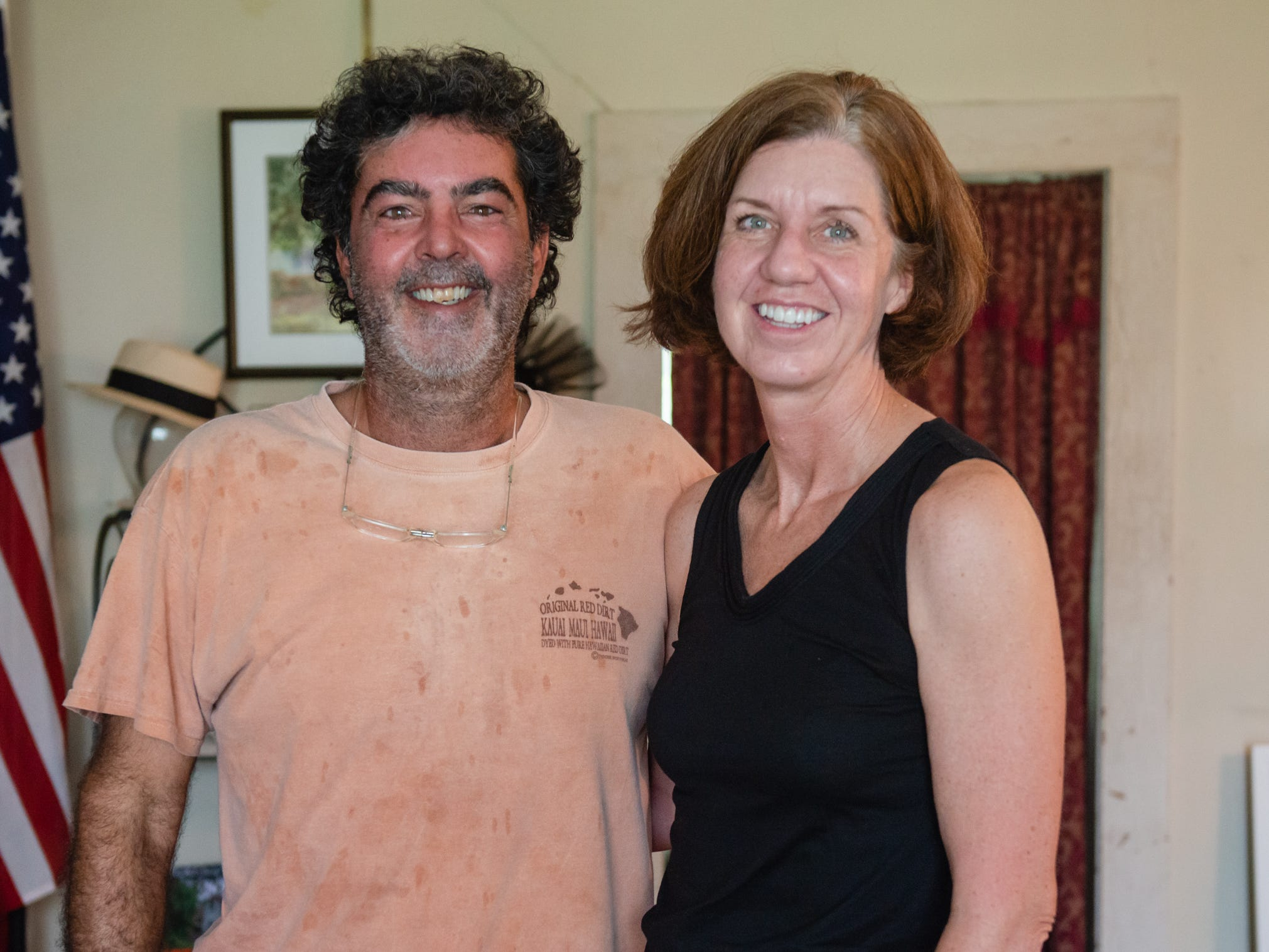 Anne and David Finley at the Christmas in July event, which raised money to restore the Green Gables Victorian house in Melbourne.