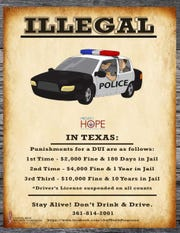 A poster that Project HOPE coalition members use to spread information.