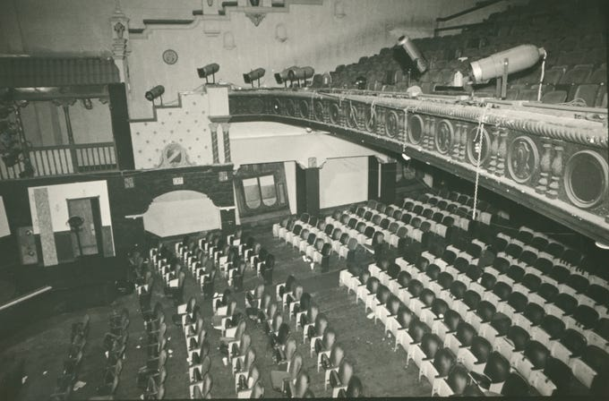 The inside of the Ritz Theater in 1988.