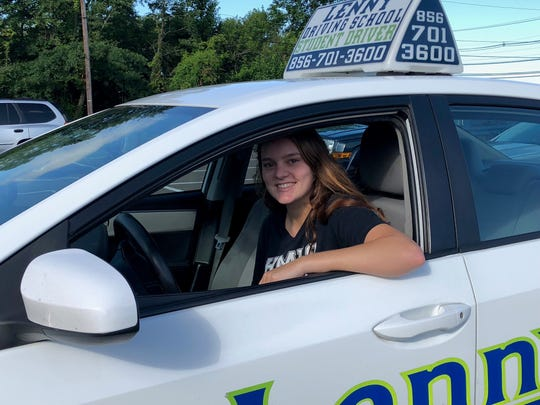 Maya Olimpio of Haddonfield took her road test on her 17th birthday. As her smile indicates, she passed.