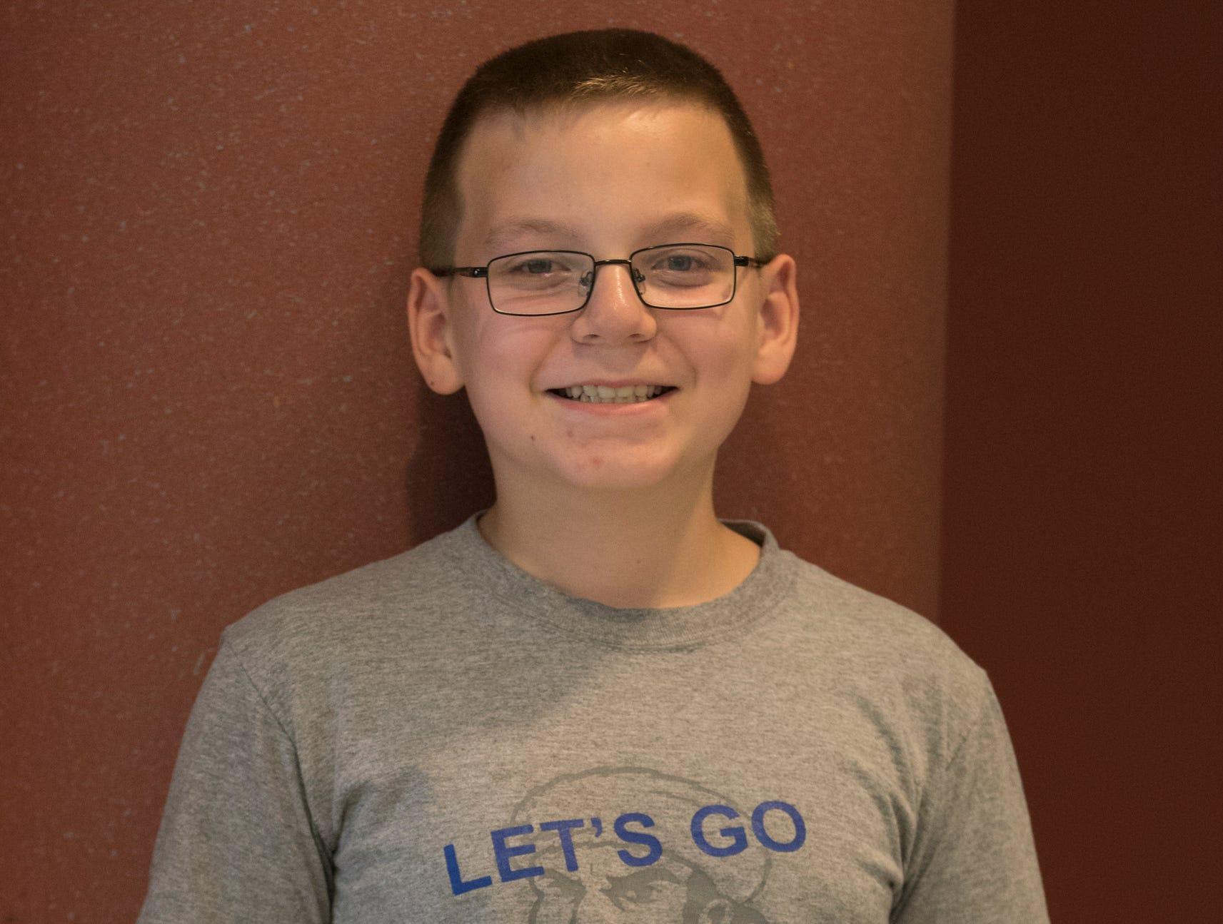 Brendan Carmean, 9, Mud Crew. Project: Exploring the Outdoors