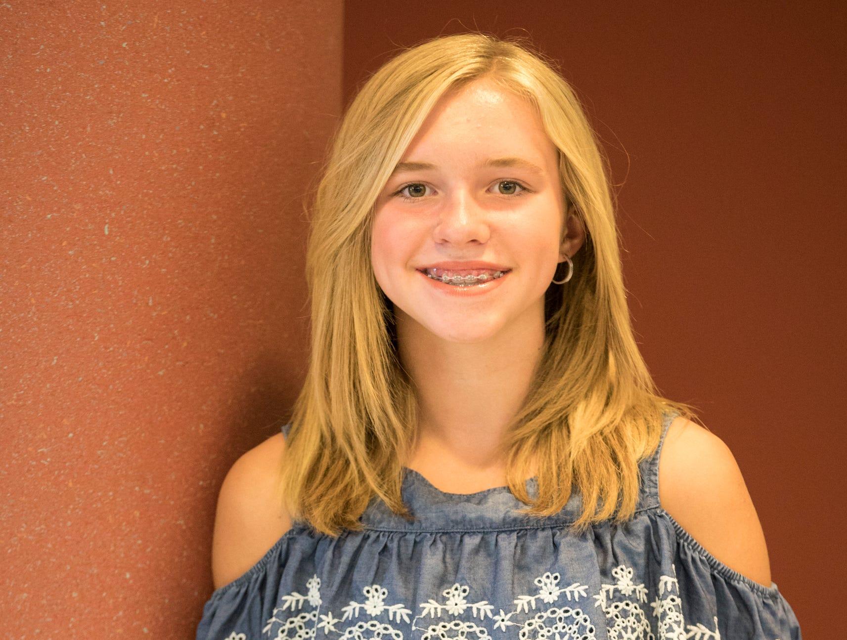 Chloe Wills, 12, Jefferson Livestock. Project: Beginner Fishing