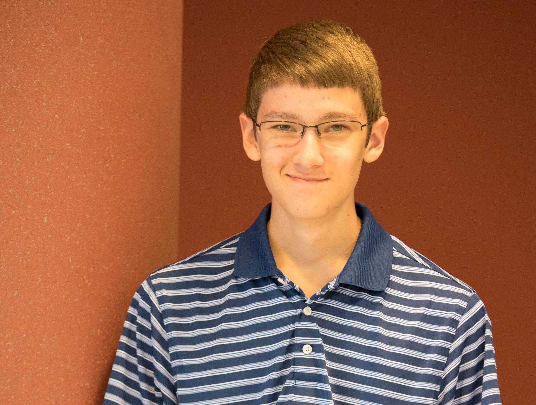 Elijah Johnson, 14, Buckskin Ramblers. Project: Woodworking – Making the Cut