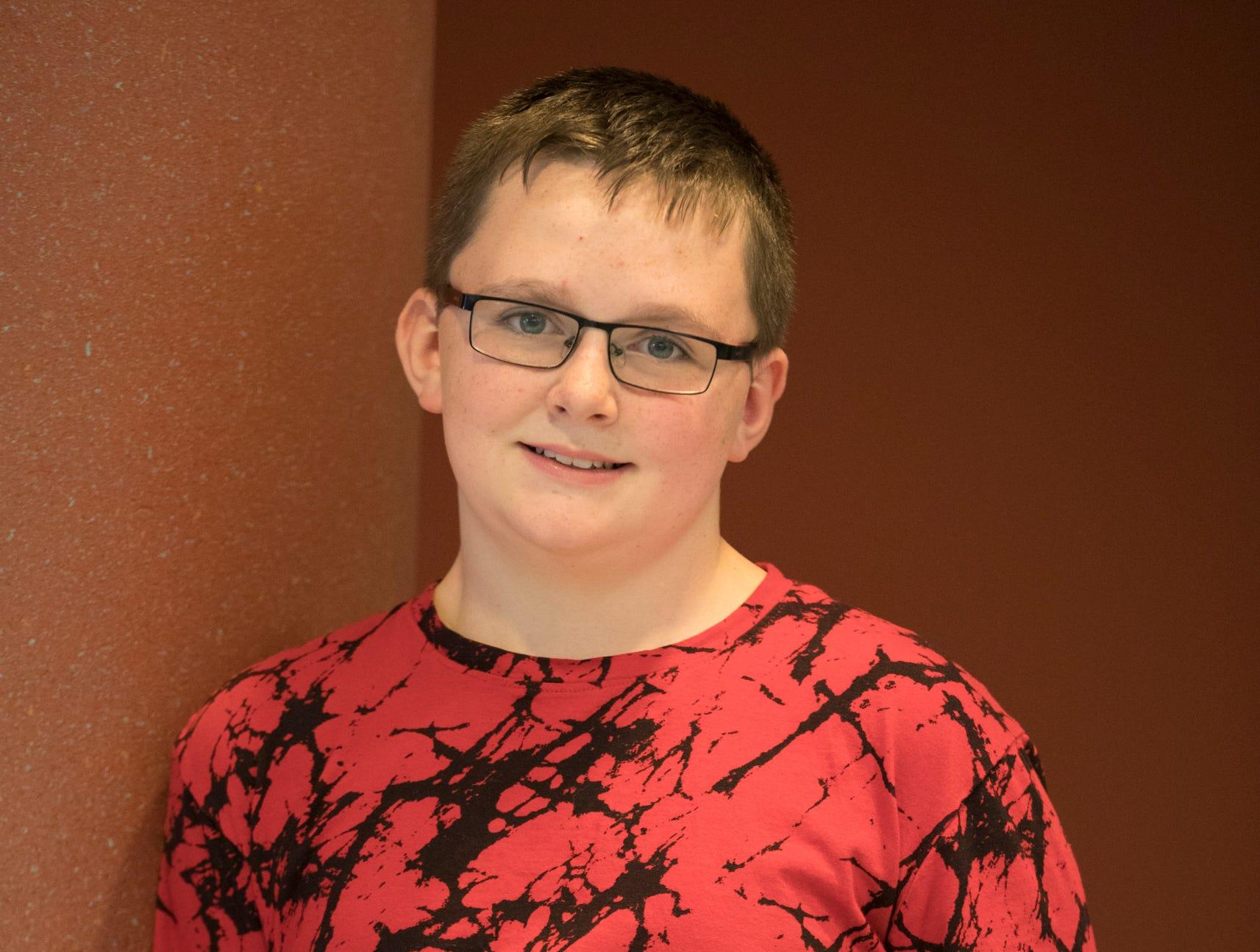 Lucas Mettler, 11, Turnback. Project: Fastbreak for Breakfast, Science Fun with Kitchen Chemistry