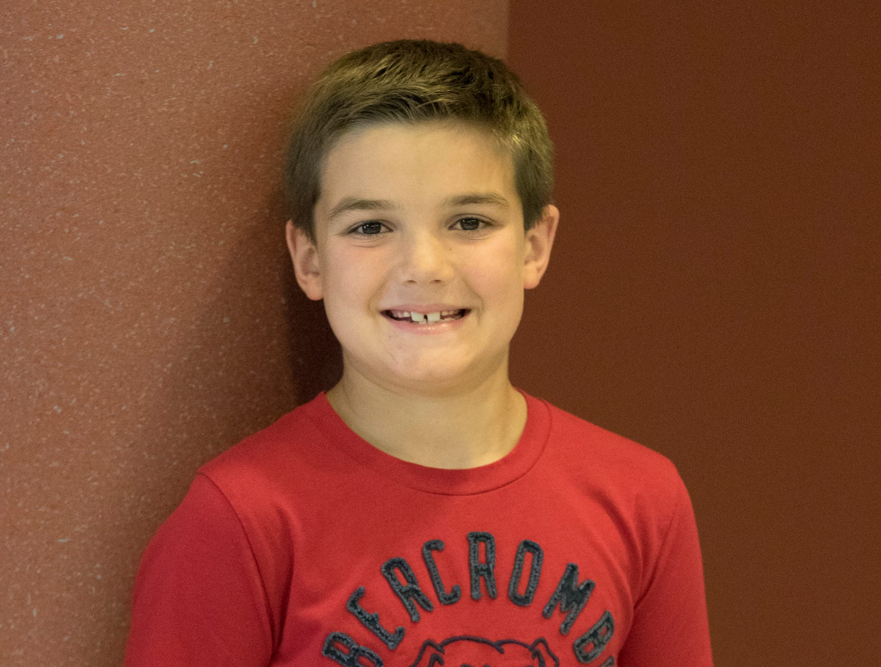 Caleb Skaggs, 8, Clover Bees. Project: Arc and Sparks