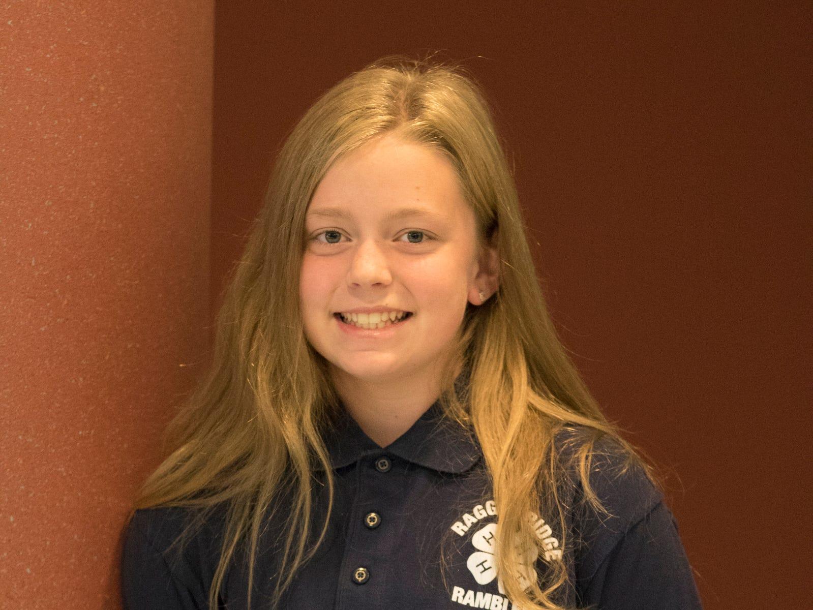 Nora Beery, 12, Ragged Ridge Ramblers. Project: Fun with Flight