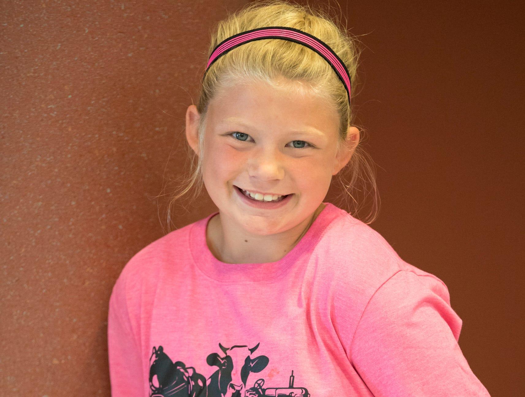 Kyla Litter, 10, Elite Eagles. Project: Scrapbooking