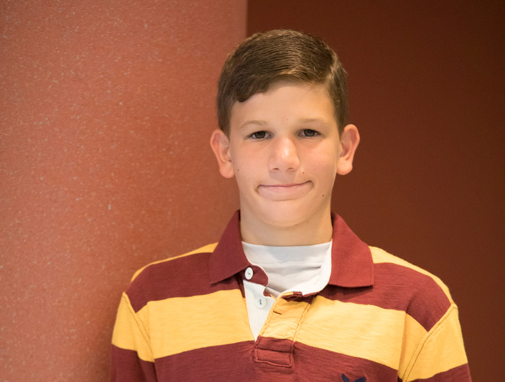 Zach Naumovski, 13, Clover Bees. Project: Let's Bake Quick Breads