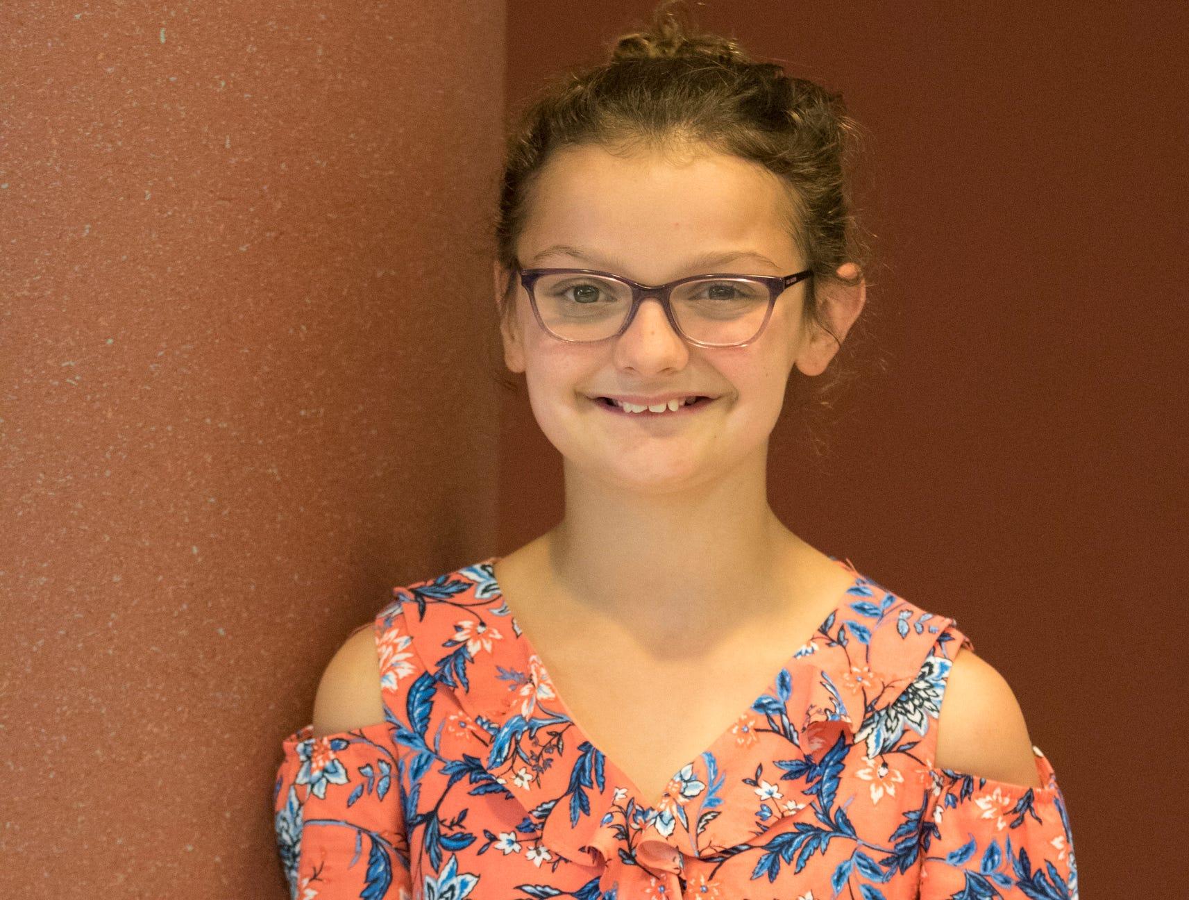 Ella Pelfrey, 10, Panther Power. Project: Veterinary Science