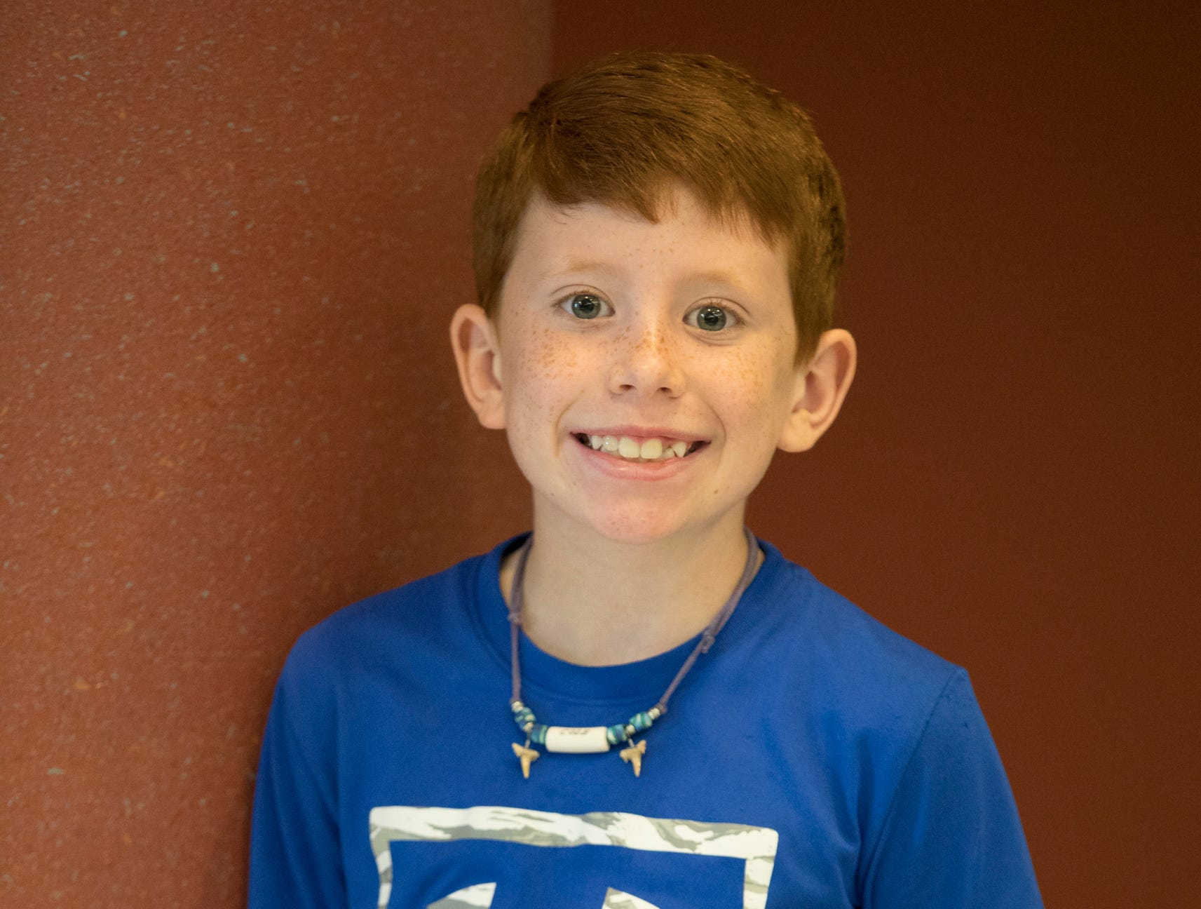 Cole Leasure, 9, Panther Power. Project: You and Your Dog