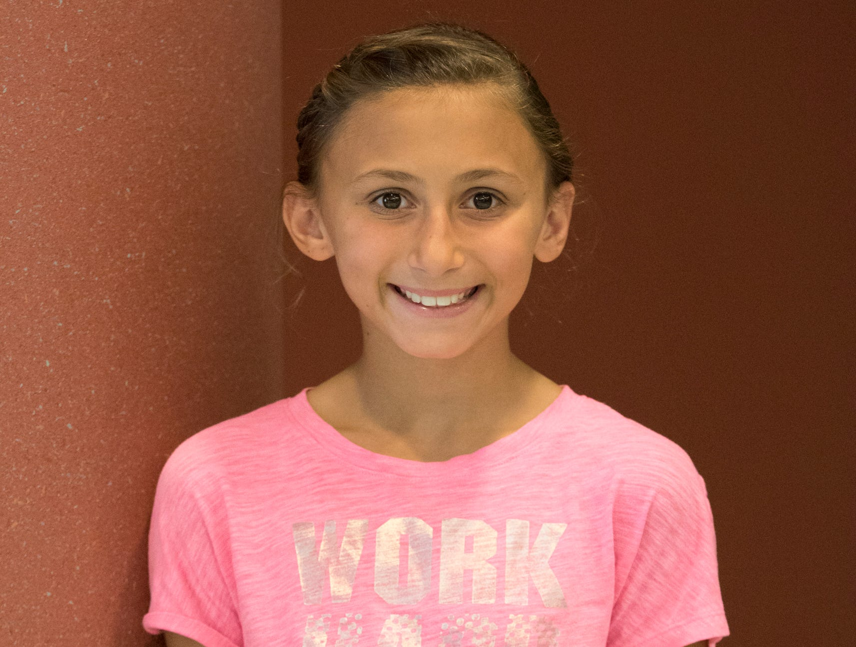 Allie Baker, 11, Mud Crew. Project: Clothes for Middle School