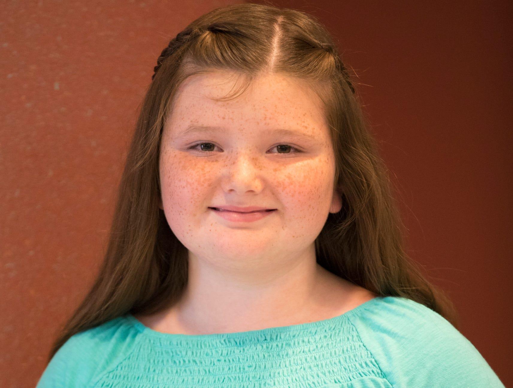 Morgan Johnson, 10, Buckskin Ramblers. Project: Get Started in Art