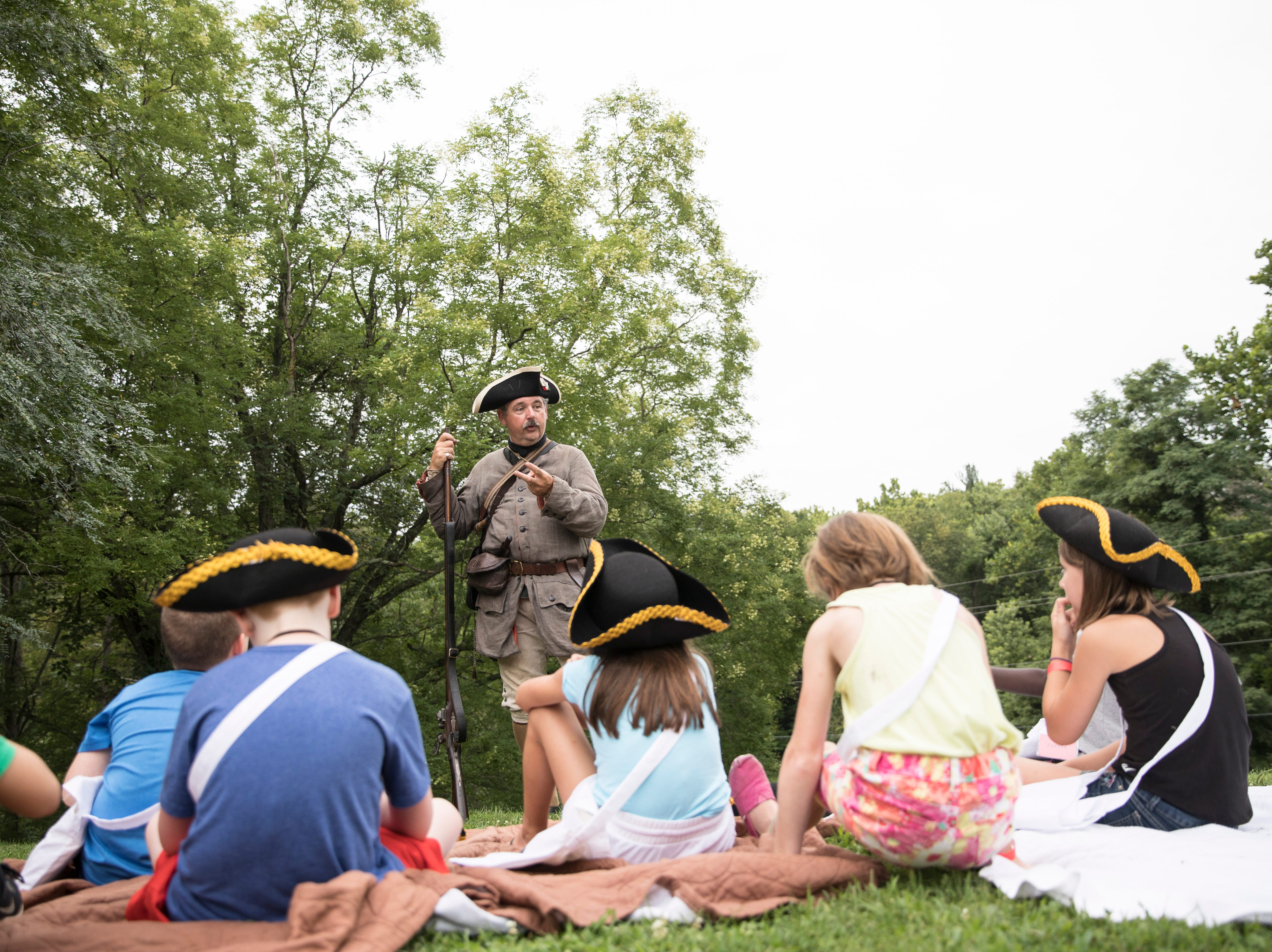 Liberty Camp fascinated local children of various ages as the Joseph Ogle Revolutionary War re-enactors told stories and reenacted significant moments in American history at the First Presbyterian Church in Chillicothe July 30 through Aug. 3.