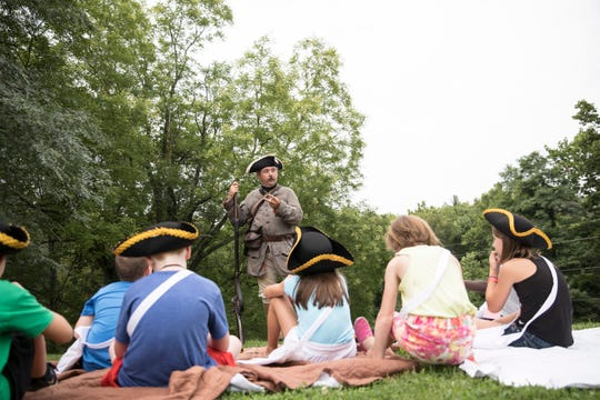 Liberty Camp fascinated local children of various ages as the Joseph Ogle Revolutionary War re-enactors told stories and reenacted significant moments in American history at the First Presbyterian Church in Chillicothe last year. The camp returns this year beginning July 29.