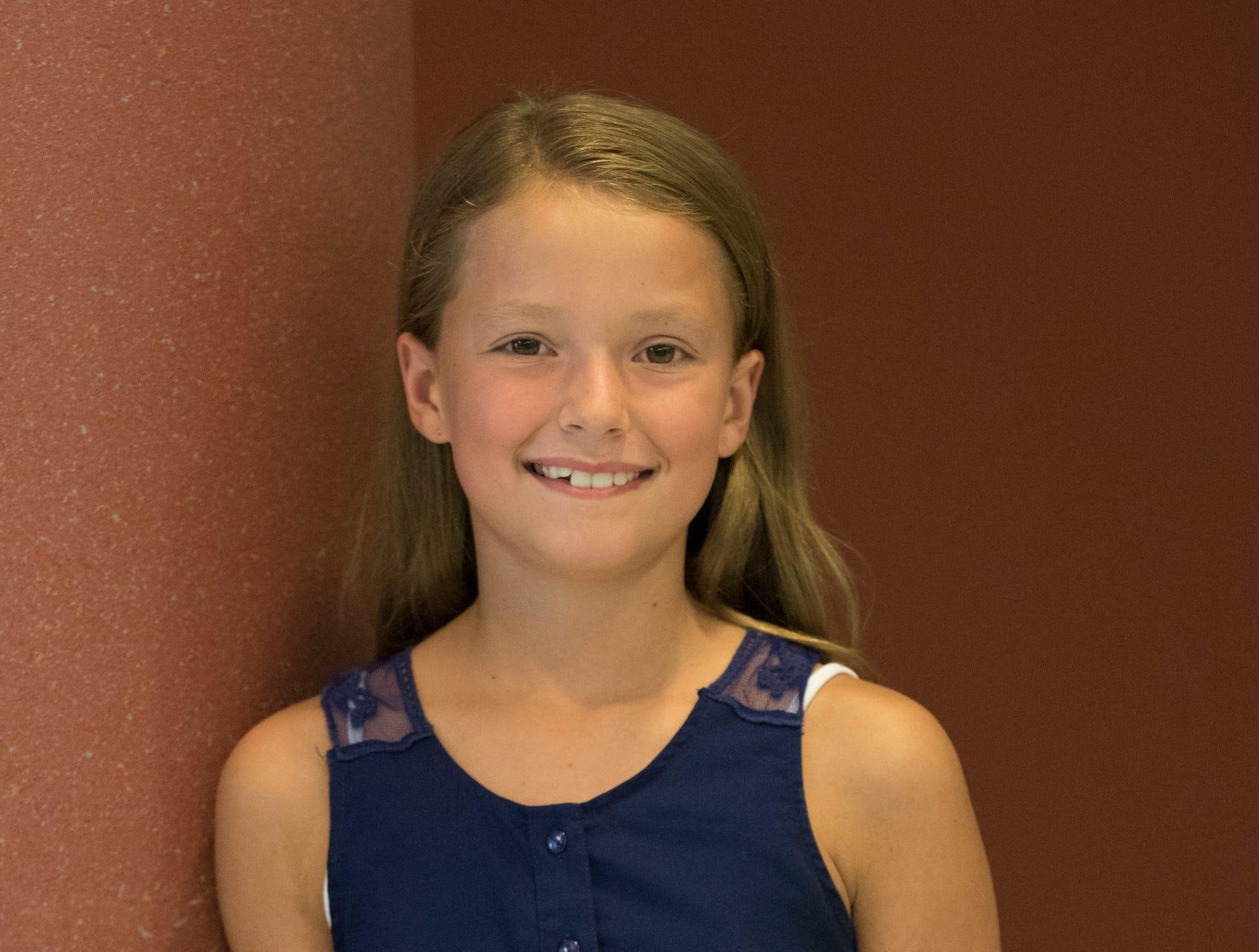 Ella Smith, 10, Concord Blue Ribbon. Project: Sew Fun Jr.