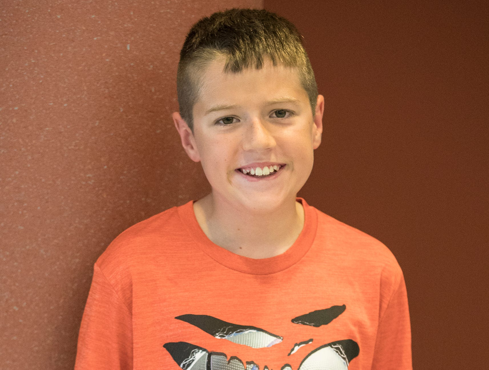 Andrew Minney, 11, Clover Clan. Project: Grow Your Own Vegetables