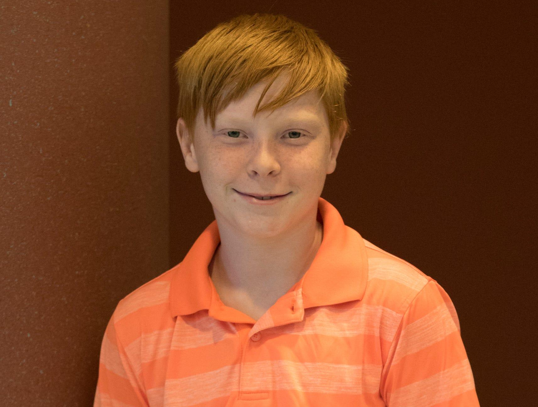 Ian Bennett, 12, We Feed 'Em Well. Project: Rockets Away