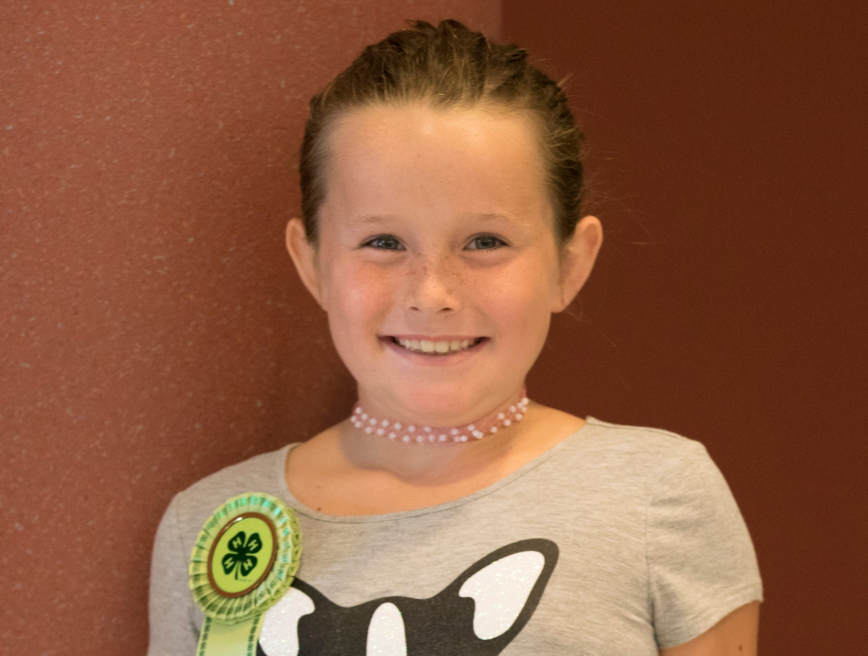 Savannah Jenkins, 9, All American Achievers. Project: Staying Healthy