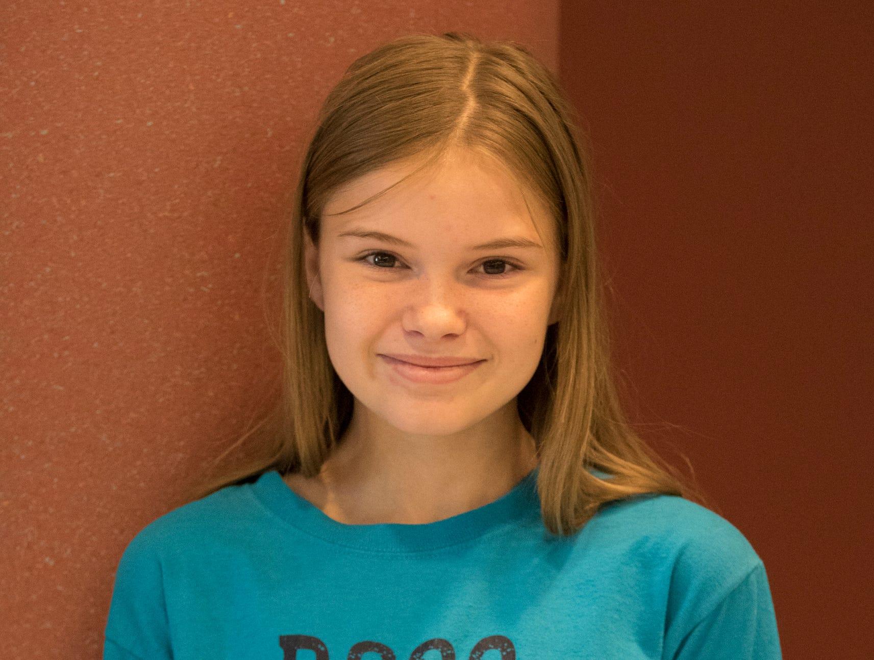 Samantha Harris, 11, Ragged Ridge Ramblers. Project: Purr-fect Pals
