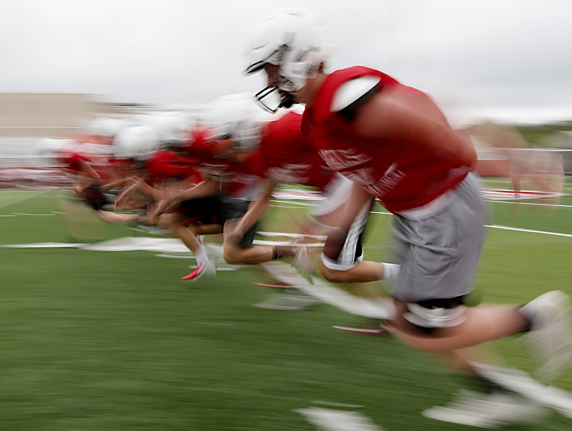 The Oak Hills football team practices Wednesday, Aug. 1, 2018. E.L. Hubbard for the Enquirer