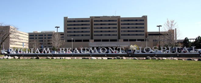 Beaumont Hospital, as seen from 13 Mile Road, in Royal Oak