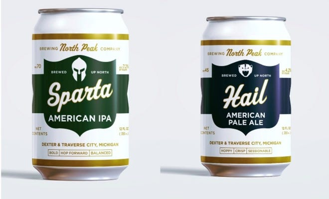 North Peak Brewing Company created Sparta and Hail to be released at the end of August, just in time for college football season.
