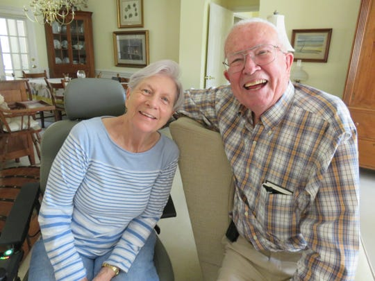 Dr. Bill Bass and his wife, Carol, in the living room at their West Knoxville home on July 26, 2018.