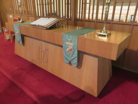 First United Methodist's mid-century-style altar table
