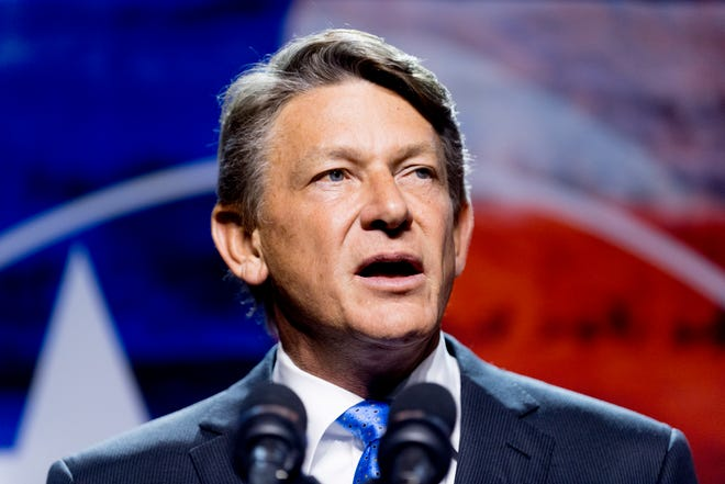 Randy Boyd speaks at his watch party at Jackson Terminal in Knoxville, Tennessee on Thursday, August 2, 2018.