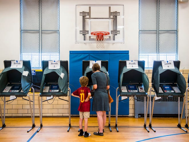 Voters cast their Election Day votes at Sequoyah Elementary School in Knoxville on Thursday, August 2, 2018.