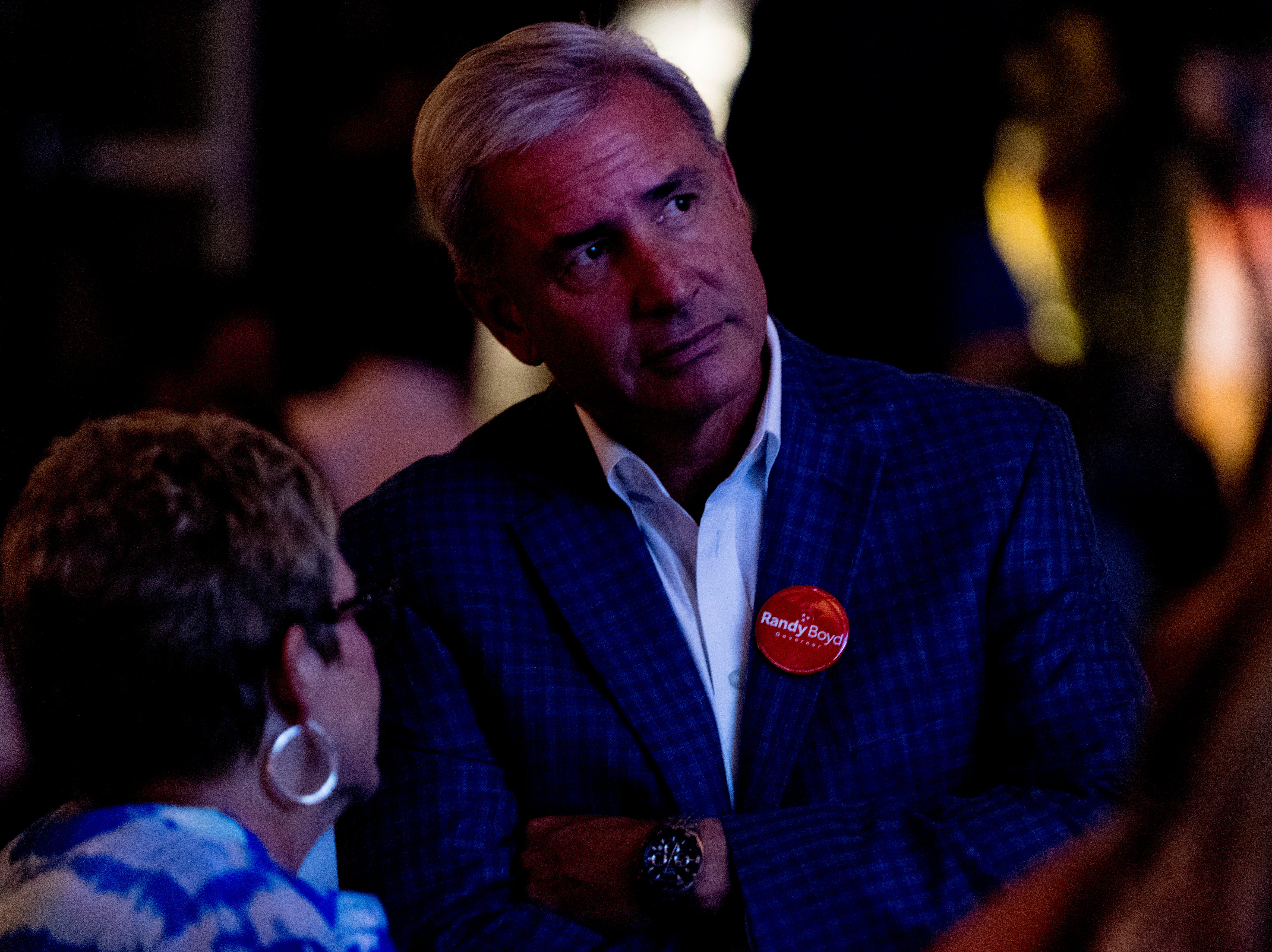 Kingsport Mayor John Clark attends the Randy Boyd for Governor watch party at Jackson Terminal in Knoxville, Tennessee on Thursday, August 2, 2018.