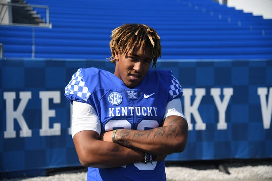 Kentucky RB Benny Snell. Does this guy look ready for the start of the season or what?
