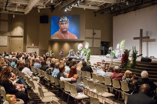 August 3, 2018 - Funeral services for Brian Christopher Lawler, son of professional wrestler Jerry Lawler at Hope Church in Cordova.