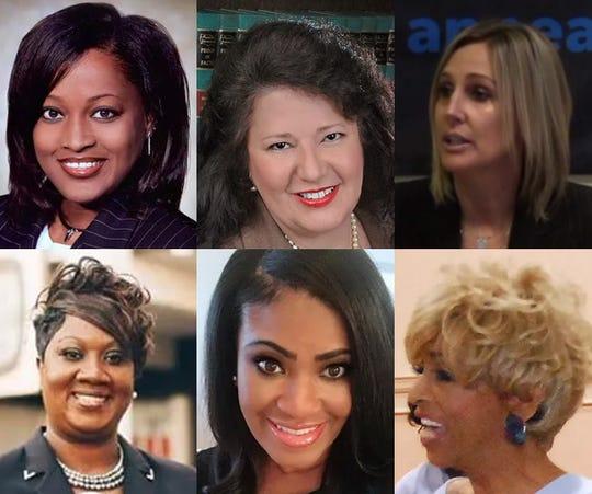 Women elected in the 2018 Shelby County general election:  Row 1: Wanda Halbert, Regina Newman and Heidi Kuhn. Row 2: Shelandra Ford, Temiika Gipson and Janice Fullilove