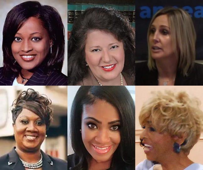 Women elected in the 2018 Shelby County general election: Row 1: Wanda Halbert, Regina Newman and Heidi Kuhn. Row 2: Shelandra Ford, Temiika Gipson and Janis Fullilove