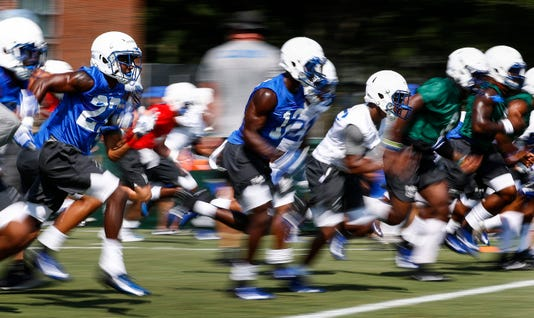 Memphis Football First Day Practice