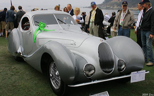 A 1938 Talbot Lago teardrop coupe
