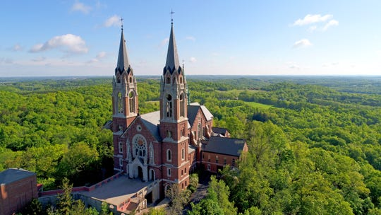 Holy Hill, located at 1525 Carmel Road, in Erin, WI, which looms over the Erin Hills golf course. For more than 150 years, pilgrims have come to Holy Hill as an expression of faith, finding comfort and solace amid 435 acres. Photo by Mike De Sisti and Chelsey Lewis / Milwaukee Journal Sentinel