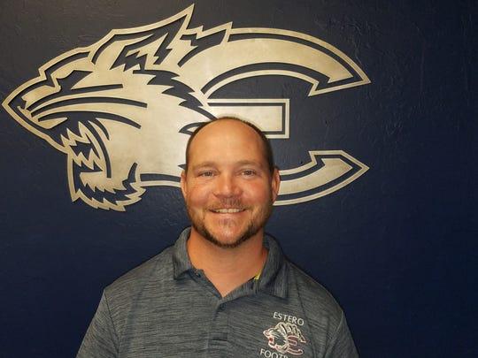 Estero High football coach Darren Nelson